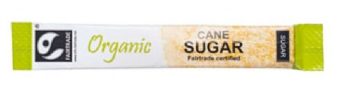 Fairtrade ORGANIC Golden Cane Sugar - single portion sachet sticks